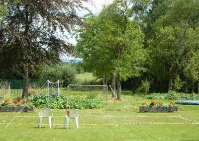 Tuin gezamenlijk badmintonveld