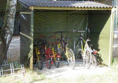 Tuin gezamenlijk fietsenstalling